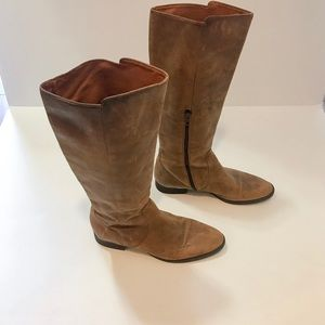J CREW Distressed Leather Boots 8 8.5 9